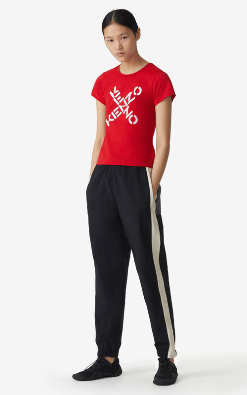 MEDIUM RED KENZO Sport 'Big X' t-shirt for women