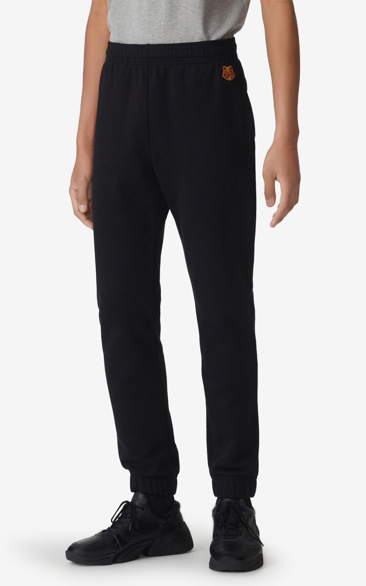 BLACK Tiger Crest jogging trousers for men KENZO