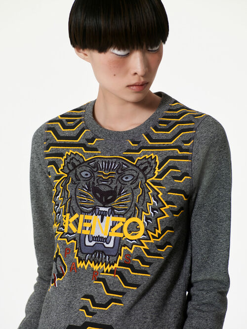 ANTHRACITE Geo Tiger Sweatshirt  for women KENZO