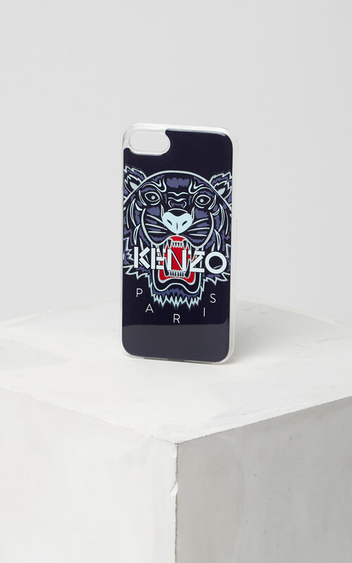 3D Tiger iPhone 7 case, NAVY BLUE, KENZO