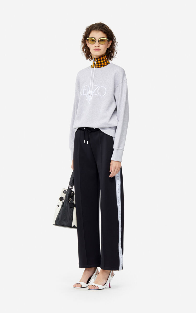 PALE GREY 'Roses' sweatshirt for women KENZO