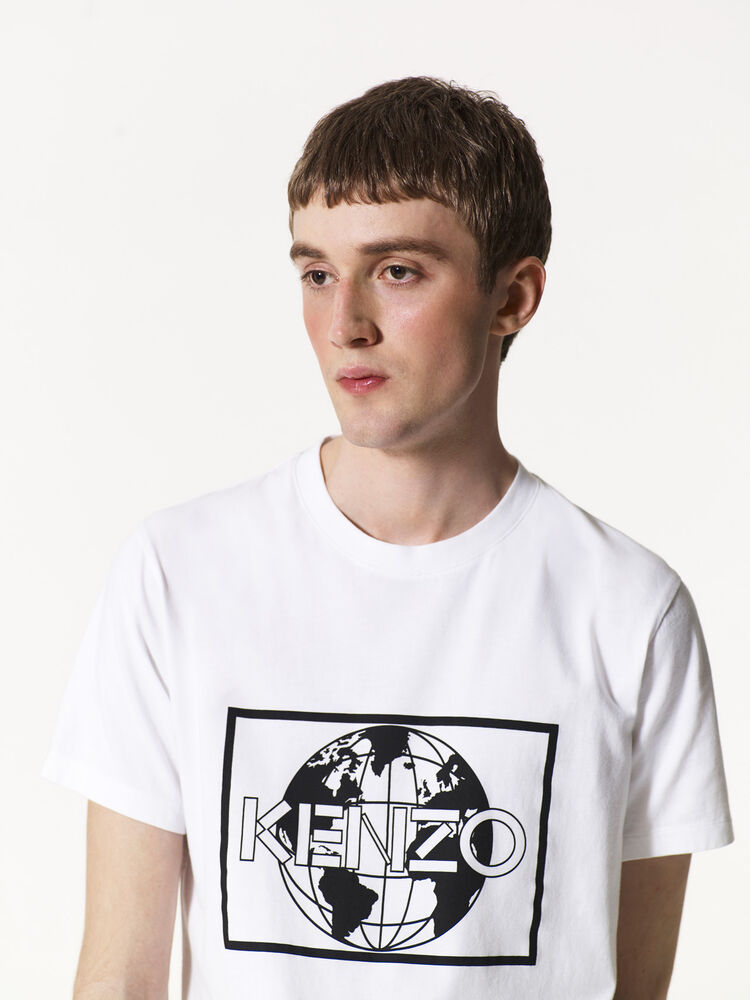WHITE 'KENZO World' T-shirt for women