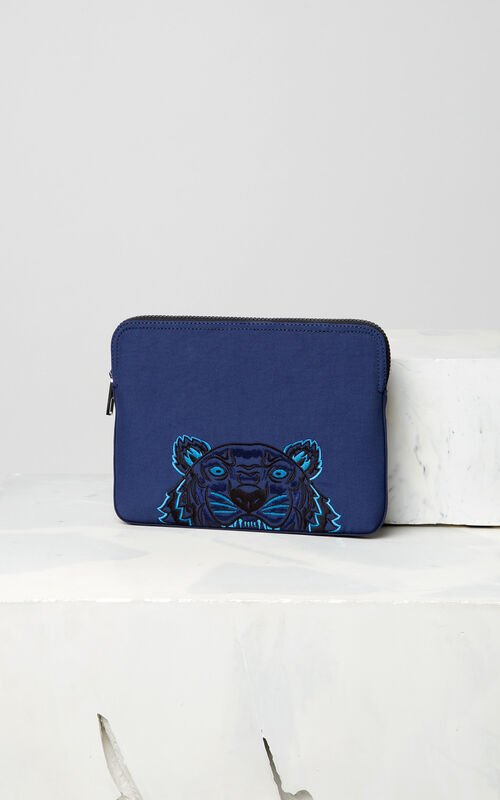 NAVY BLUE Tiger tablet sleeve for unisex KENZO