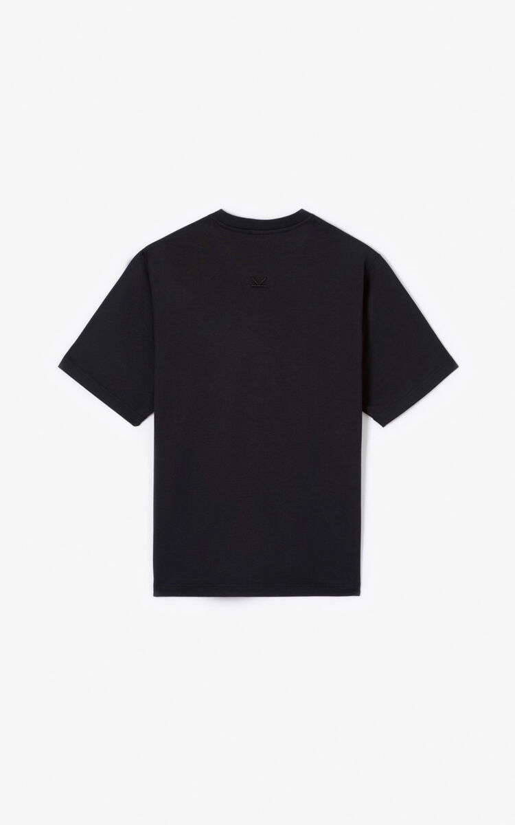 BLACK KENZO Logo T-shirt for men