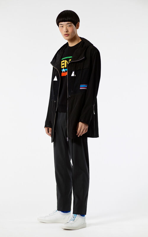 BLACK Hooded 'Hyper KENZO' Parka for men