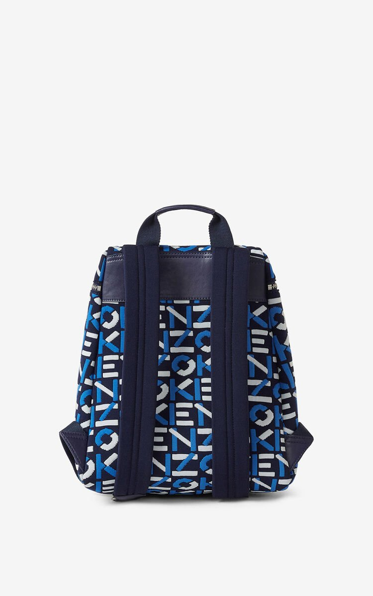 MIDNIGHT BLUE Skuba monogrammed backpack for unisex KENZO