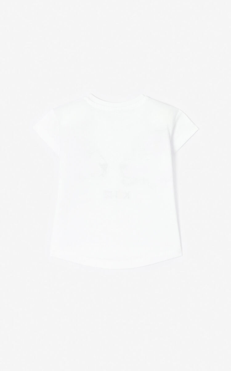 WHITE 'Tiger Friends' T-shirt for men KENZO