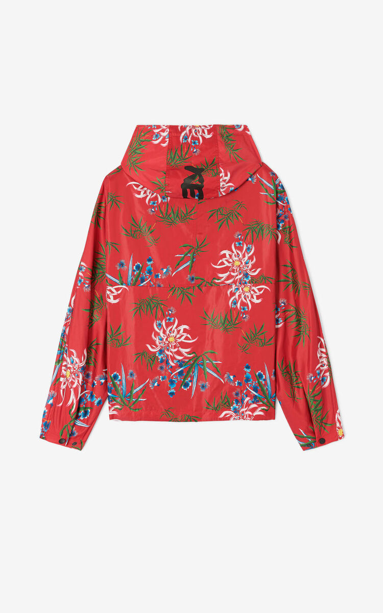 MEDIUM RED 'Sea Lily' windstopper for women KENZO