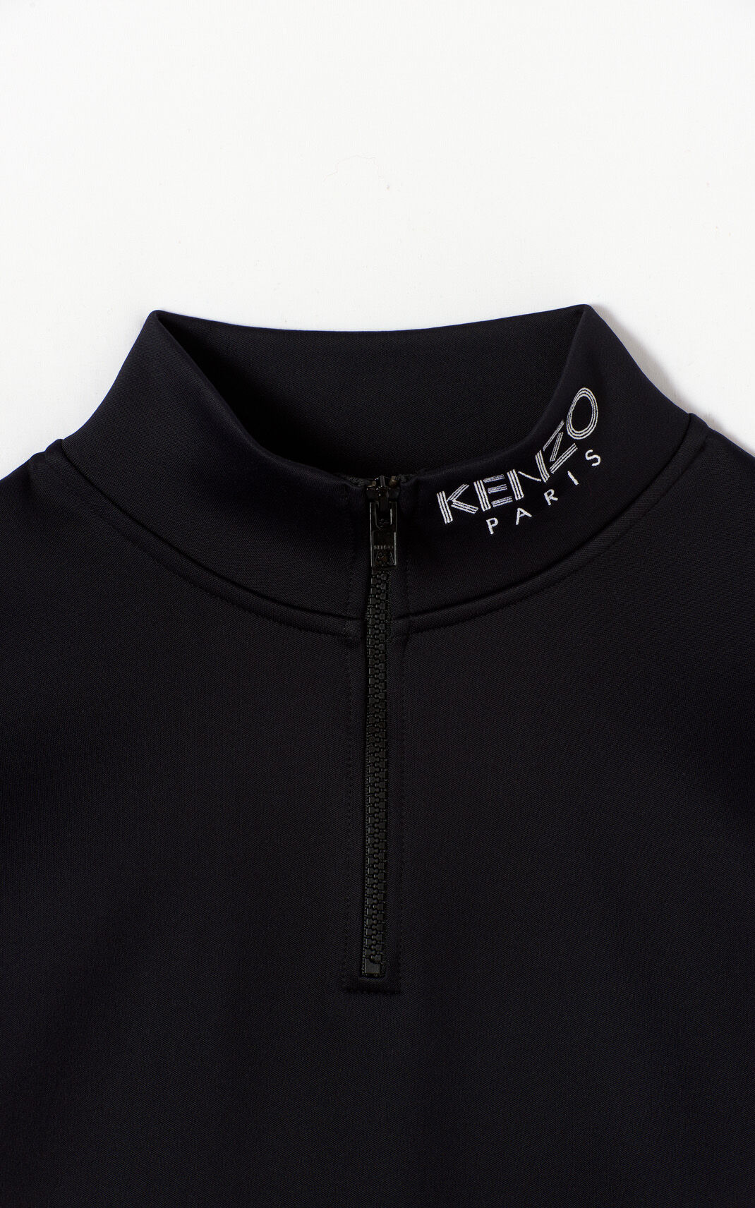BLACK Kenzo Logo crop top for women