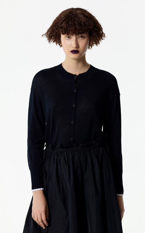 BLACK KENZO signature cardigan for women