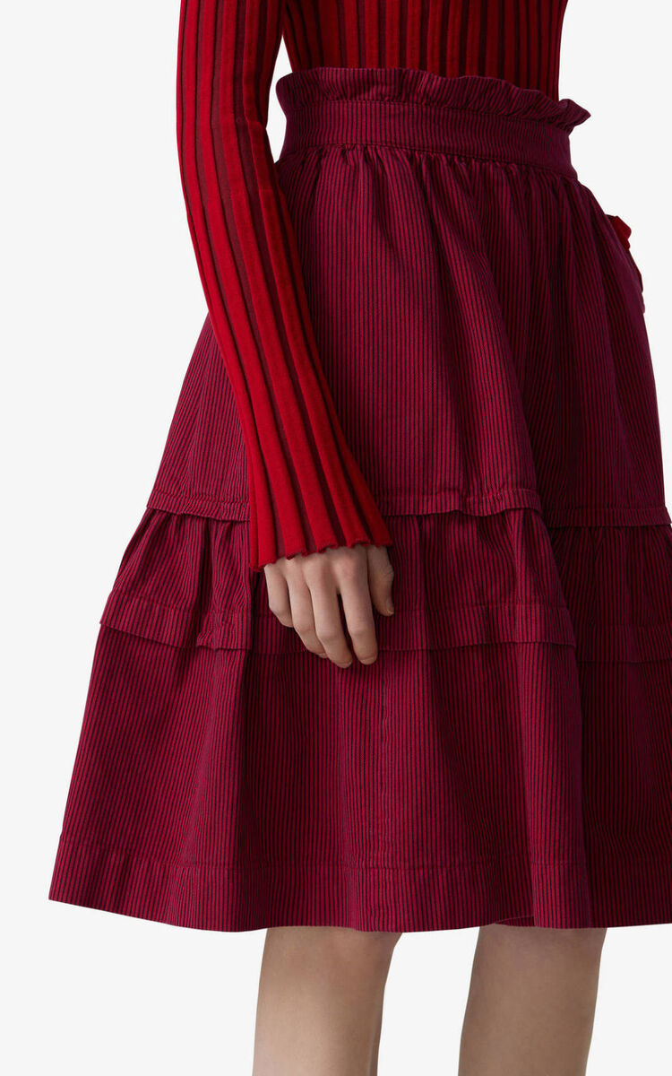 DEEP FUSCHIA Overdyed high-waisted skirt for women KENZO