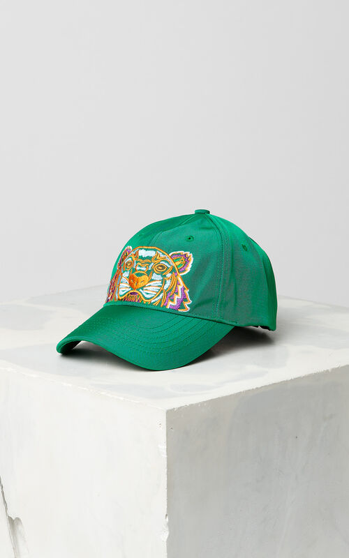 GRASS GREEN Tiger Canvas Cap for women KENZO