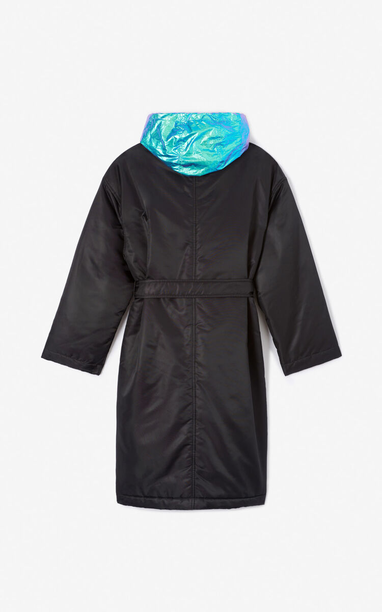 BLACK Belted coat for women KENZO