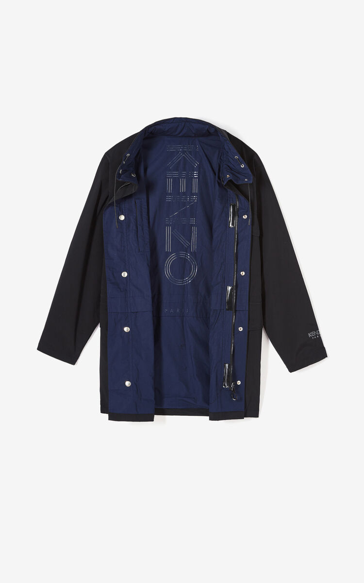 BLACK Reversible lightweight parka for global.none KENZO