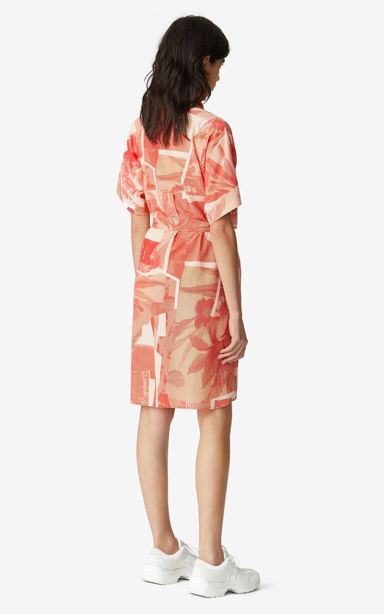POPPY 'High Summer Capsule' 'Cut-out Flowers' shirt dress for women KENZO