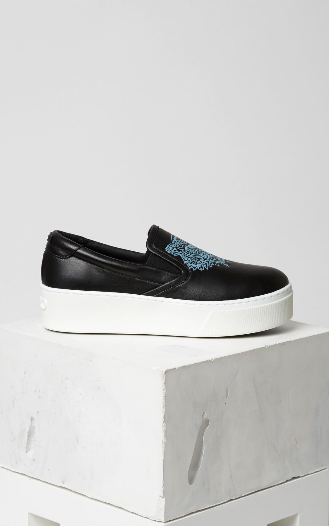 BLACK Tiger Slip-on Platform for women KENZO