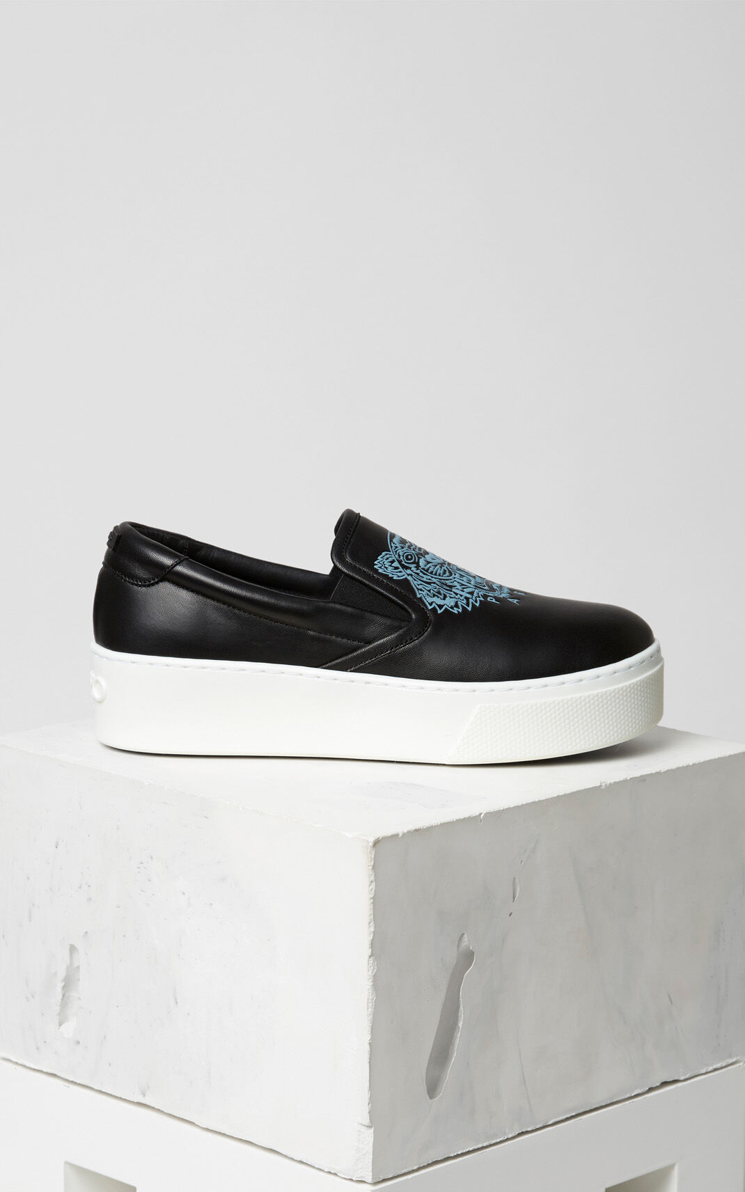 BLACK Tiger Slip-on Platform for unisex KENZO