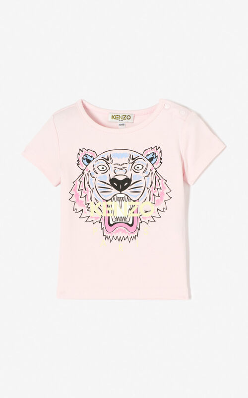 PASTEL PINK Tiger t-shirt for unisex KENZO
