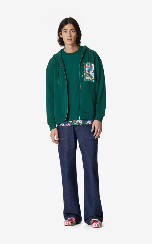 PINE 'Tulipe' zipped hooded sweatshirt for women KENZO
