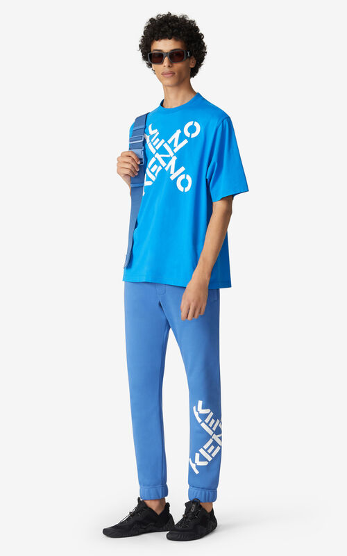 CYAN KENZO Sport 'Big X' T-shirt for women