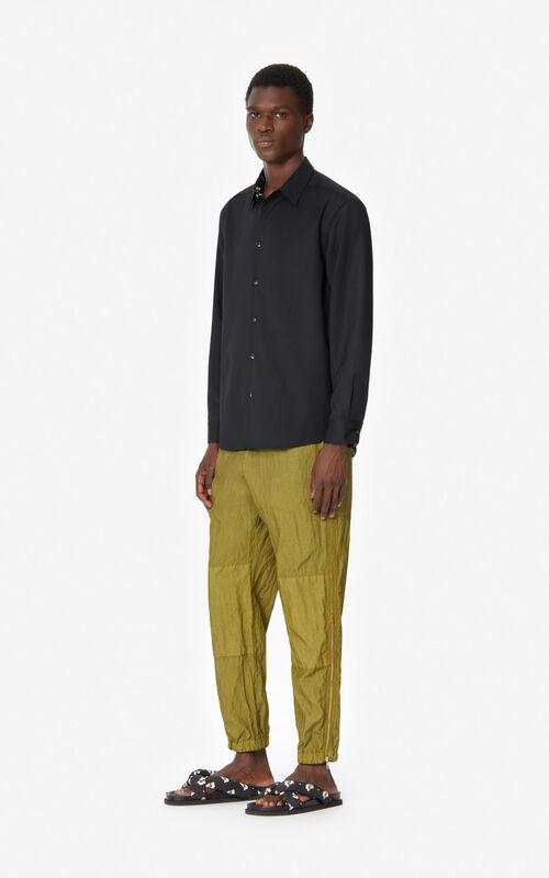 KHAKI Trousers with zips for men KENZO