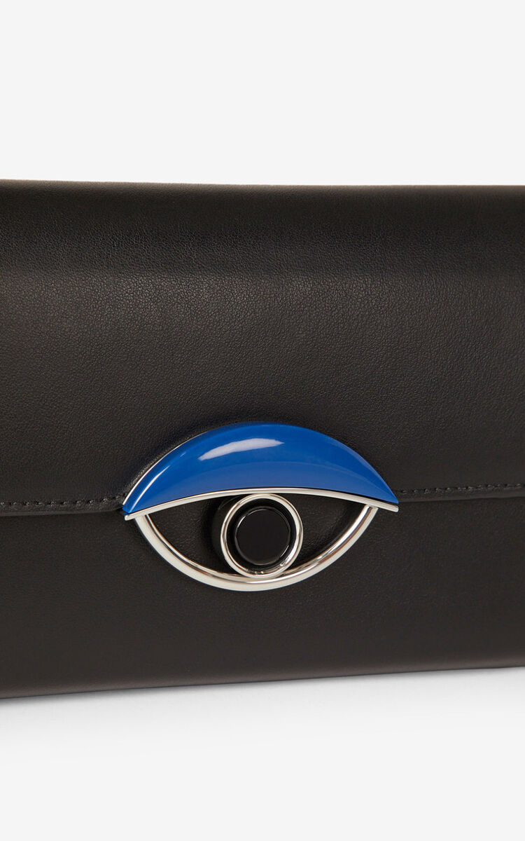 BLACK TALI leather wallet with chain   for unisex KENZO