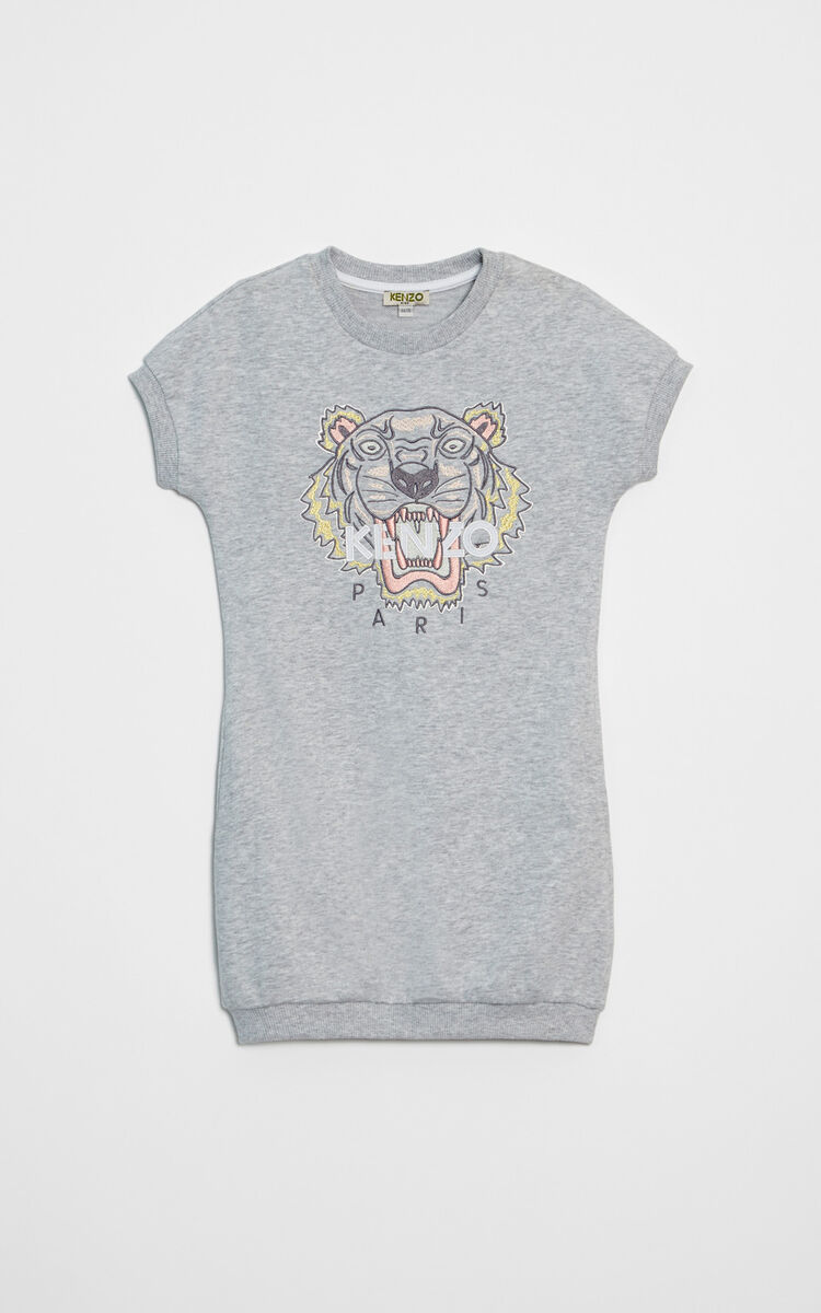 PALE GREY Tiger Dress for women KENZO