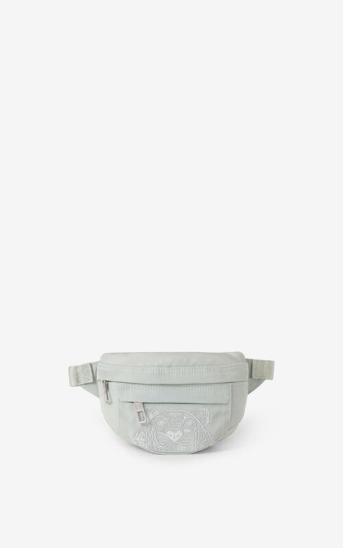 SAGE GREEN Kampus Tiger small belt bag for unisex KENZO