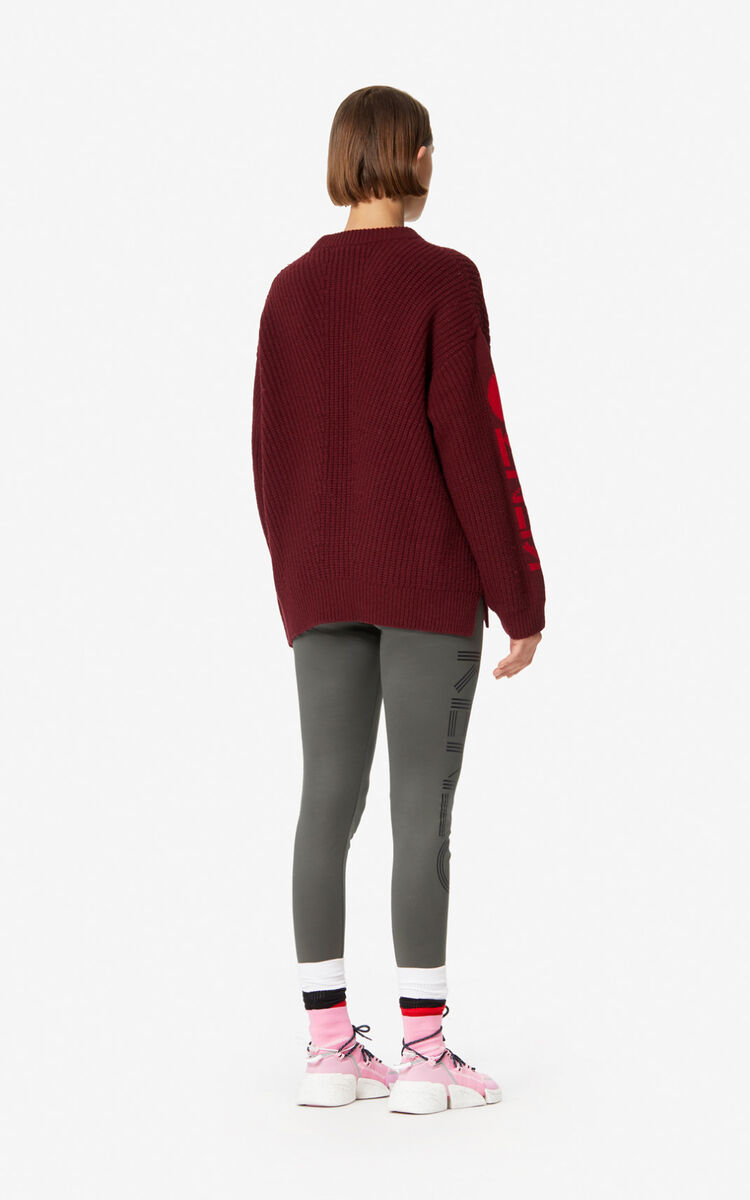 BORDEAUX KENZO Paris thick wool jumper  for women