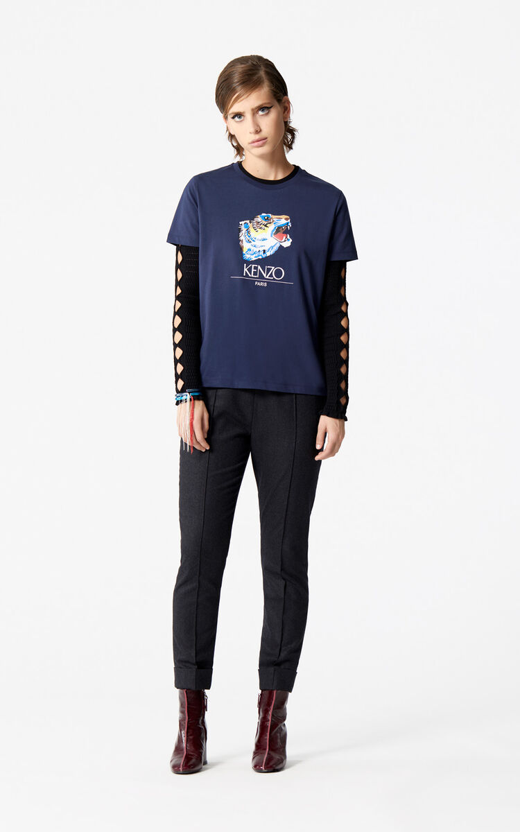 INK 'Tiger Head' T-Shirt 'Go Tigers Capsule' for women KENZO