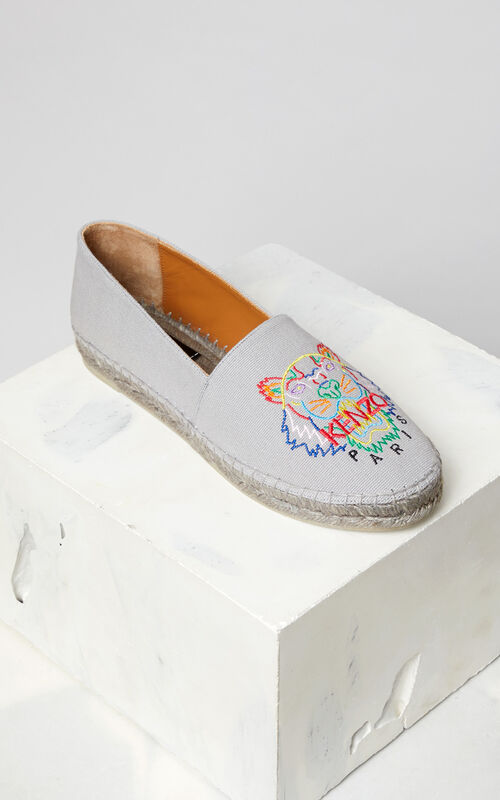 PALE GREY 'High Summer Capsule Collection' Tiger Espadrilles for women KENZO