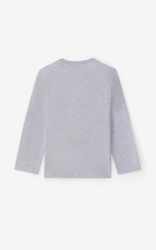 PEARL GREY 'Tokyo' long-sleeved T-shirt for unisex KENZO
