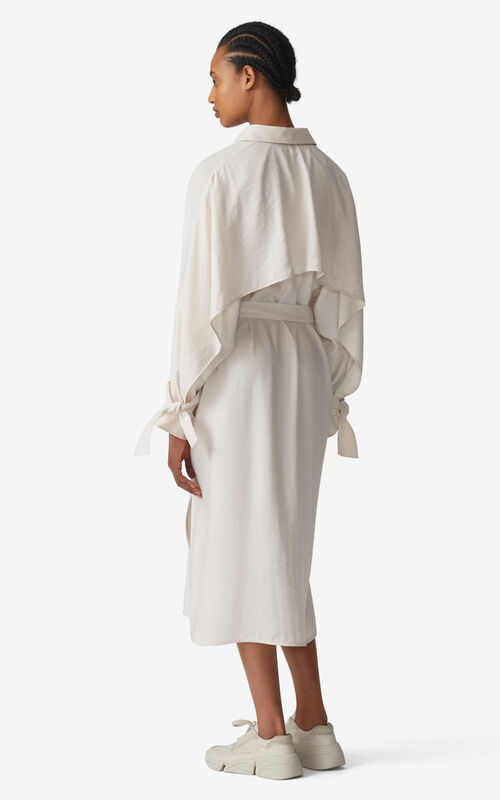 ECRU Belted shirt dress for women KENZO