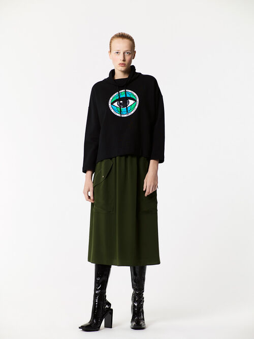 BLACK 'World Eye' loose-fitting sweatshirt for women KENZO