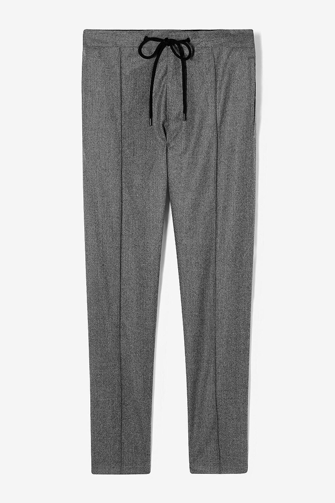 DARK GREY Drawstring flannel trousers for men KENZO