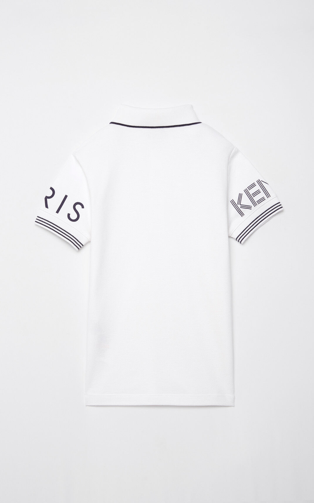 WHITE KENZO logo polo shirt for women