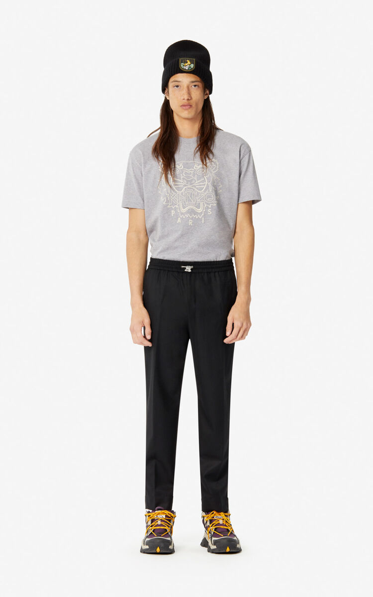 BLACK Flannel trousers for men KENZO