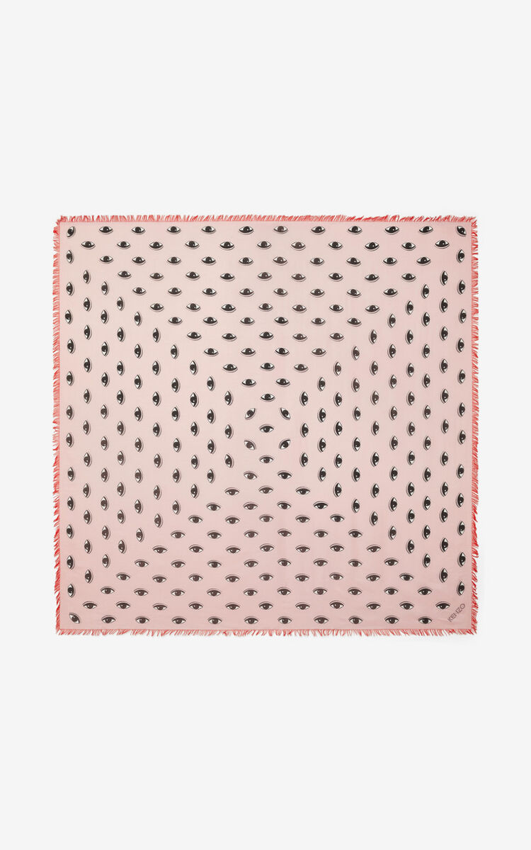 FLAMINGO PINK Large Multi Eyes square for unisex KENZO