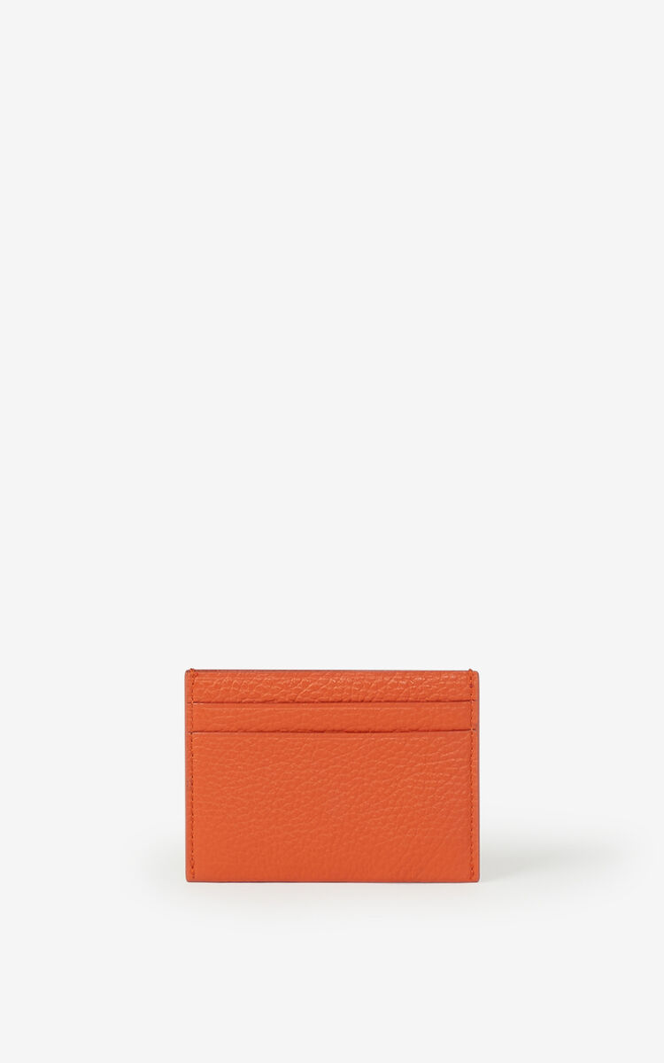 PAPRIKA KENZO Imprint grained leather cardholder for unisex