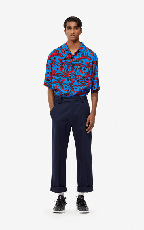 COBALT 'Flying Phoenix' oversized shirt for men KENZO