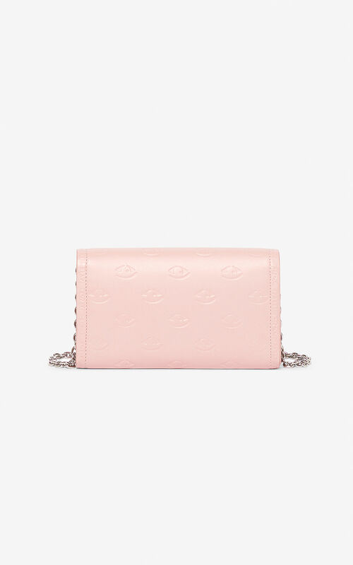 FADED PINK Blink Eye wallet on chain for unisex KENZO