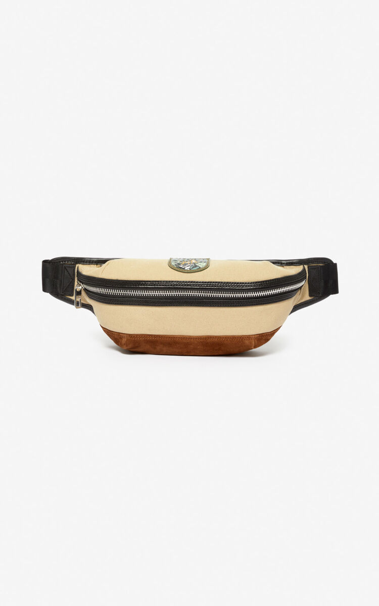 BEIGE 'Tiger Mountain' 'Capsule Expedition' bumbag for unisex KENZO