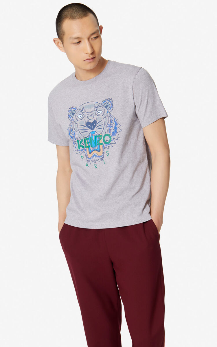 PEARL GREY Tiger T-shirt for men KENZO