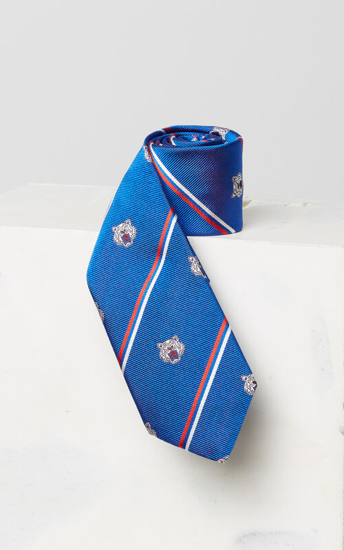 FRENCH BLUE Tiger tie for women KENZO