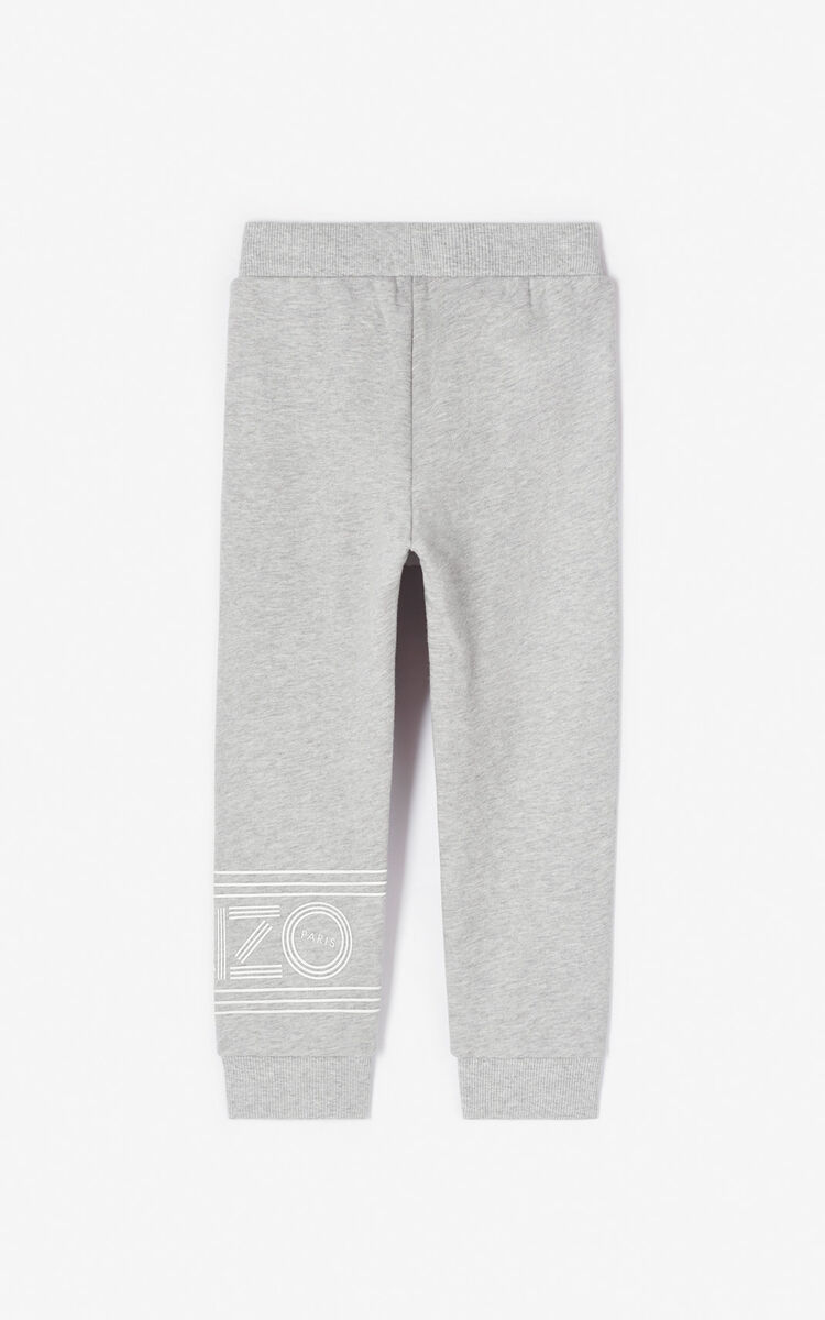MIDDLE GREY KENZO logo jogging trousers for men