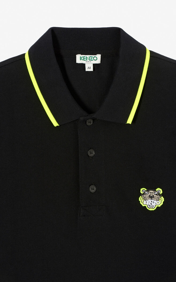 BLACK Fitted Tiger polo shirt 'High Summer Capsule collection' for women KENZO