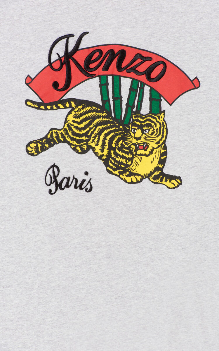 PEARL GREY 'Bamboo Tiger' t-shirt for men KENZO