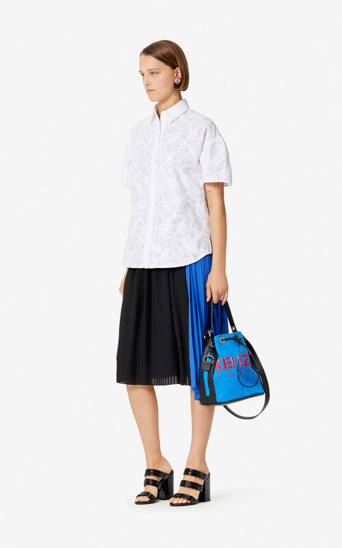 WHITE 'Flying Phoenix' shirt for women KENZO