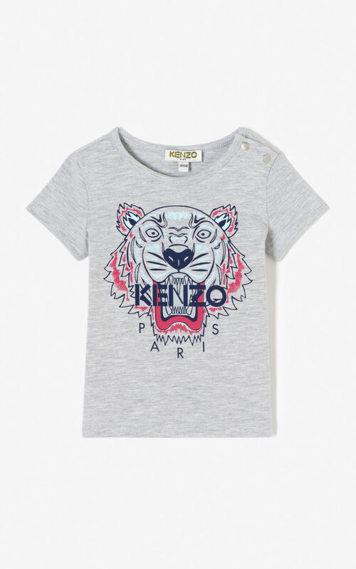 MISTY GREY Tiger t-shirt for unisex KENZO