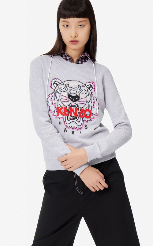 5ec2d1db PALE GREY Tiger sweatshirt for women KENZO ...